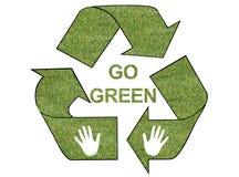 Go green grass logo. In white background Stock Photos