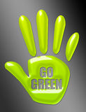 Go green hand Stock Images