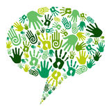 Go green hands communication Stock Photos