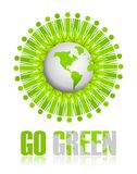 Go Green icon Royalty Free Stock Photo