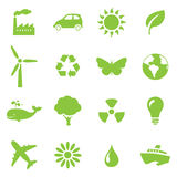 Go green icon set Stock Photo