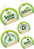 Go green icon set Royalty Free Stock Photo