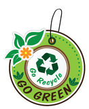 Go green icon set Royalty Free Stock Images