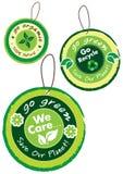 Go green icon set Royalty Free Stock Photo