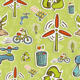 Go green icon set pattern Royalty Free Stock Image