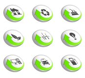 Go green icons stock illustration