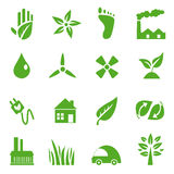 Go Green Icons set - 03 Royalty Free Stock Photography