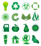 Go green icons set Royalty Free Stock Image