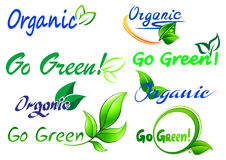 Go Green icons and symbols Stock Images