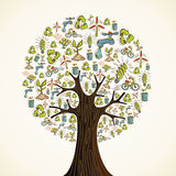 Go Green icons tree Royalty Free Stock Images