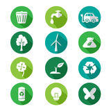 Go green icons Royalty Free Stock Image