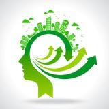 Go for green idea vector Royalty Free Stock Photos