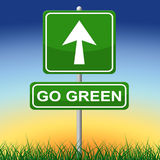 Go Green Indicates Earth Day And Arrows Stock Image