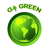 Go Green Indicates Earth Day And Eco-Friendly Stock Images