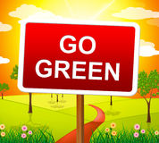 Go Green Indicates Earth Friendly And Conservation Royalty Free Stock Photos