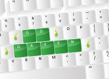 Go green Keyboard Concept Royalty Free Stock Images