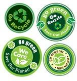 Go green label set Stock Photo