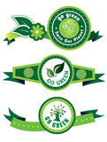 Go green label set Royalty Free Stock Photography