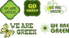 Go Green Labels Royalty Free Stock Photo