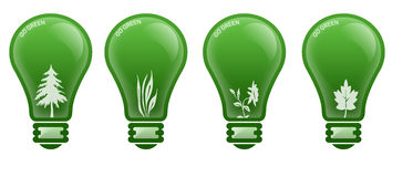 Go Green Lamp Stock Photography