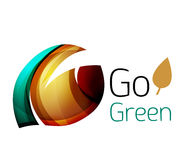Go green. Leaf nature concept. Vector icon Royalty Free Stock Photography