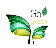 Go green. Leaf nature concept Royalty Free Stock Photos