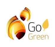 Go green. Leaf nature concept Stock Photos