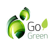 Go green. Leaf nature concept Stock Images