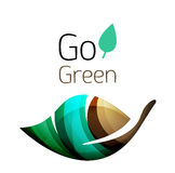 Go green. Leaf nature concept. Vector icon Royalty Free Illustration