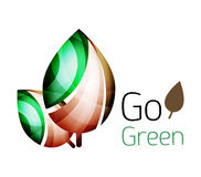 Go green. Leaf nature concept Stock Image