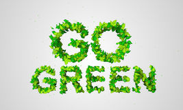 Go Green Leaf Particles 3D. Digital art Stock Photography