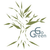 Go green. Let's save our world, let's go green vector illustration