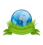 Go green life, environment symbol isolated on whit Stock Photo