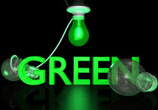 Go Green Light Bulbs Stock Photo