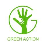Go green logo. This is go green logo design.   file Stock Image