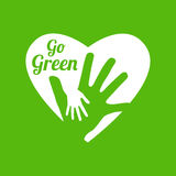 Go green logo. This is go green logo design.  file Stock Images