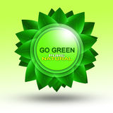 Go Green Logo Royalty Free Stock Photo