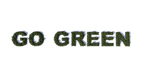 Go Green made from green trees Royalty Free Stock Images