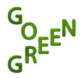 Go green made out of grass Royalty Free Stock Images