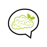 Go green mind Stock Photography