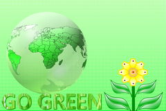 Go green Nature ecology organic concept Stock Image