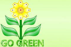 Go green Nature ecology organic concept Royalty Free Stock Image