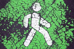 Go green and pedestrian priority concept royalty free stock images