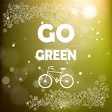 Go green poster Royalty Free Stock Photos