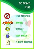 Go green poster Royalty Free Stock Image