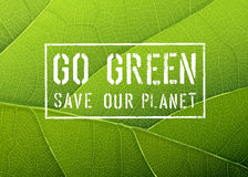 Go Green Poster, Vector Royalty Free Stock Image