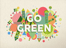 Go green quote poster design background Royalty Free Stock Photography