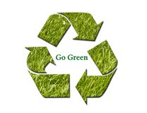 Go Green and Recycle Stock Images