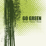 Go Green Recycle Reduce Reuse Eco Poster Concept. Vector Creative Organic illustration on abstract green background Stock Photos