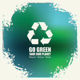 Go Green Recycle Reduce Reuse Eco Poster Concept Royalty Free Stock Image